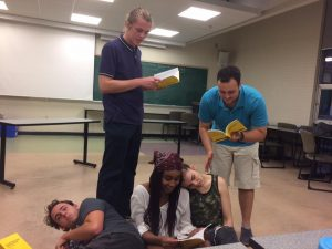 Brothers Grimm in rehearsal